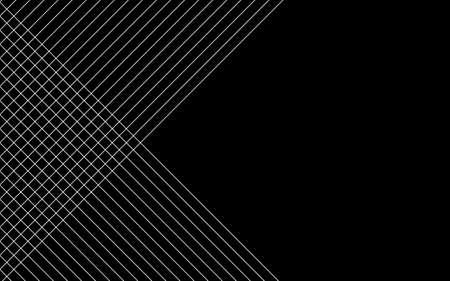Abstract black background with diagonal lines. Vector illustration Ilustração