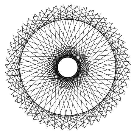 abstract geometric spirograph background. vector illustration. Ilustração