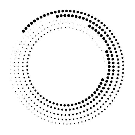 Abstract dotted vector background. Halftone effect. Black dotted background
