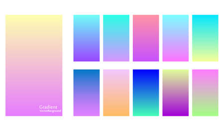 Gradient duo tone theme color transitions vector template colorful bright tone colorful background.