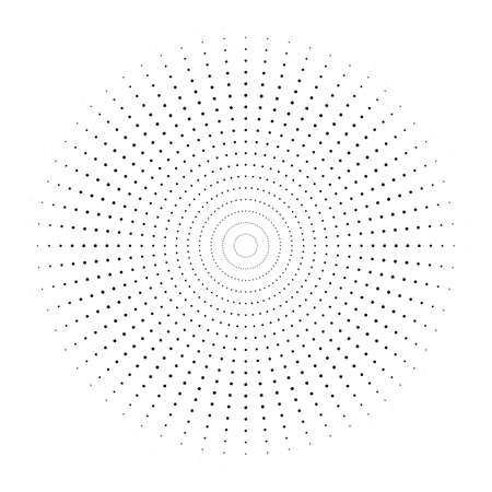 Abstract circle dotted vector background. Halftone effect. Black dotted on white background
