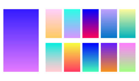 Gradient duo tone theme color transitions vector template colorful bright tone colorful background for graphic display design.