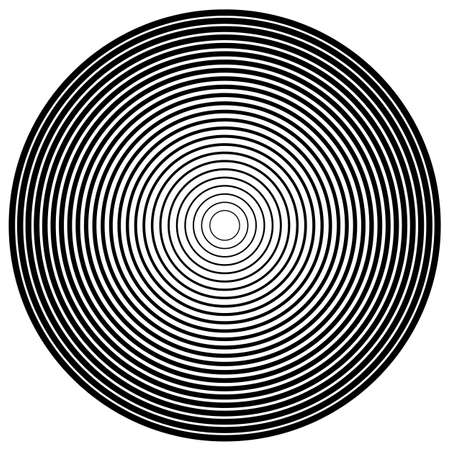 Concentric Circle Elements Backgrounds. Abstract circle pattern. Black and white graphics. Vector illustration