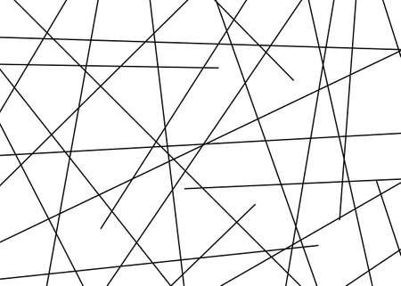 Random chaotic lines abstract geometric pattern. Vectror illustration