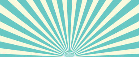 Blue Sunburst Pattern Background. Rays. Radial. Abstract. Retro Vintage Vector Illustration Ilustração
