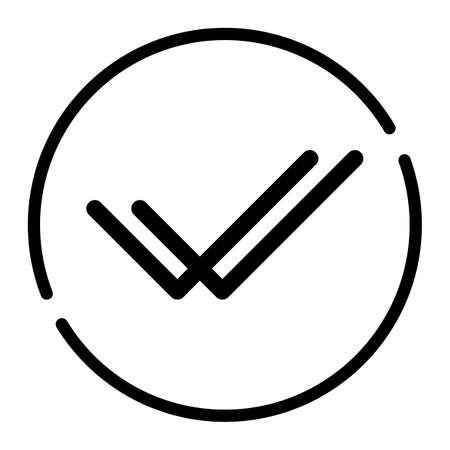 Check mark icon sign vector illustration