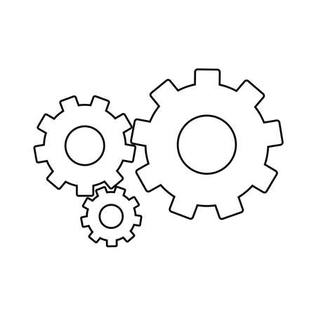 Setting Gears, cogwheels line icon. linear style sign for mobile concept and web design. Cog gears mechanism outline vector icon. Symbol,  illustration.