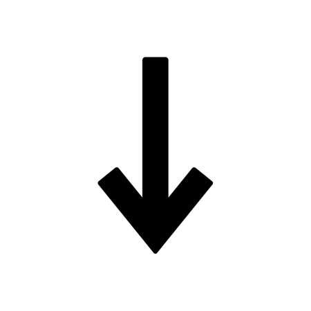 Arrow icon vector , down sign. Arrow symbol for your web site design,  app, UI. Vector illustration