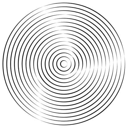 Monochrome spiral geometric. Rotating radial lines abstract design element. Abstract vortex line background.