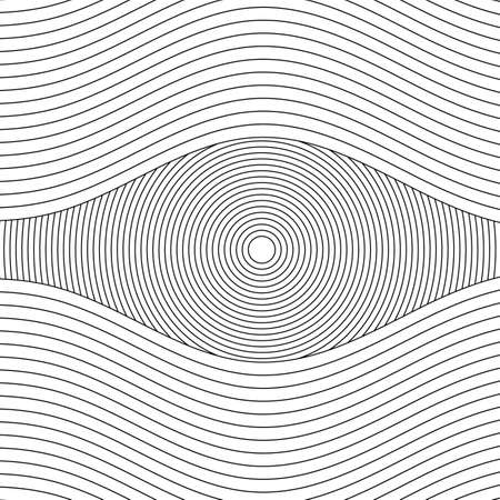 Wave Lines Pattern Abstract Background. Vector illustration Stock Illustratie