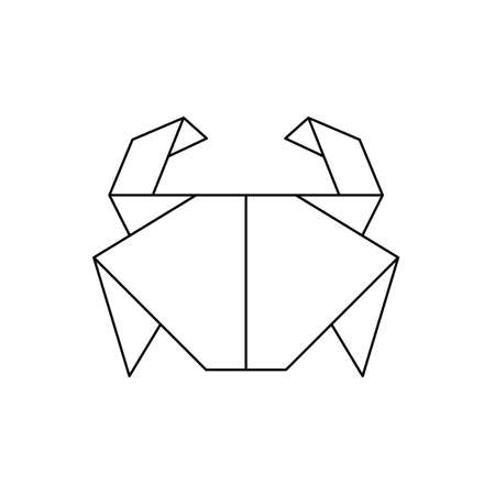 origami crab icon outline vector design. Vector illustration Stock Illustratie