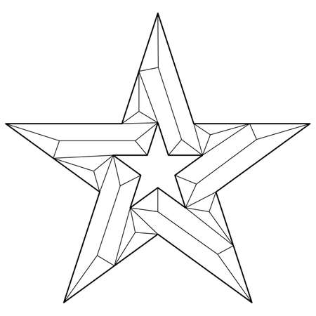 Star icon vector flat in trendy design
