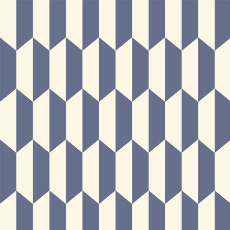 A bold wallpaper with an optical geometric design, printed in blue and white.
