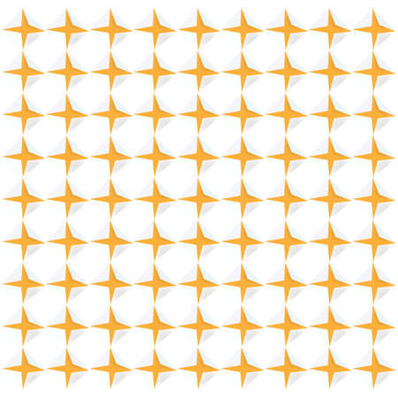 Repeating geometric pattern of stars. Seamless vector background. Stock Illustratie