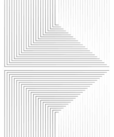 Abstract op art pattern with rhombus. Monochrome graphic black and white ornament. Striped optical illusion repeating texture.