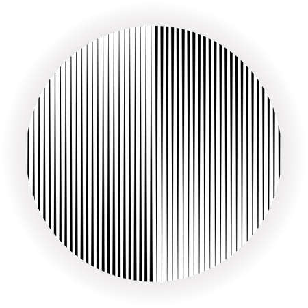 Abstract halftone lines circle background. Vector modern design black and white background. Creative geometric pattern. Stock Illustratie