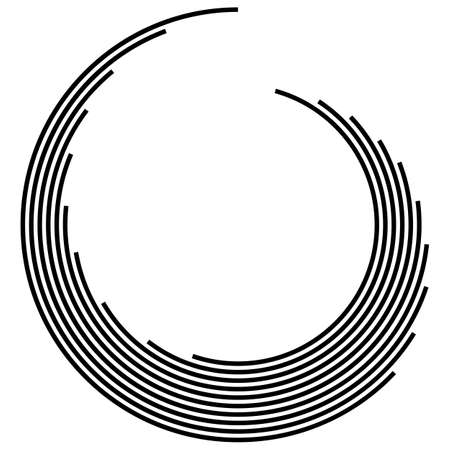 Technology Geometric Circle . Lines in Circle Form. Vector illustration