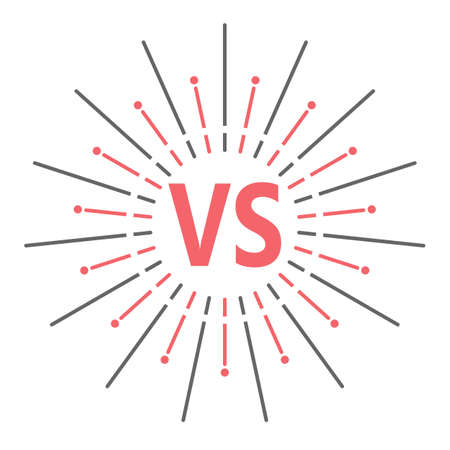 Versus . VS Vector Letters Illustration. Competition Icon