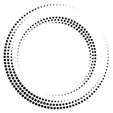 Abstract dotted circles. Dots in circular form. Vector design element Stock Illustratie