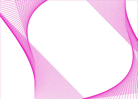 Design elements. Curved sharp corners many streak. Abstract vertical broken stripes on white background isolated. Creative band art. Colors lines created using Blend Tool Ilustração