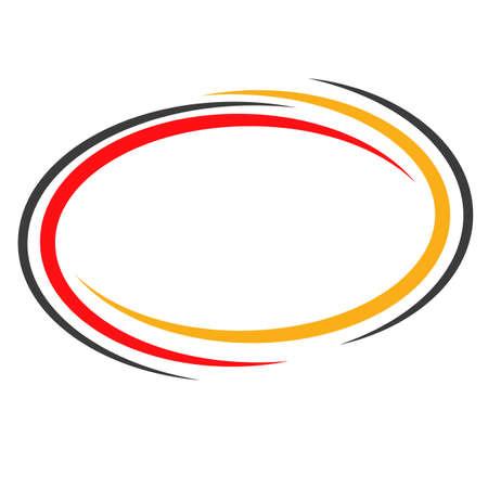 Oval, ellipse banner frames, borders. Black versions included. Vector illustration Vektoros illusztráció