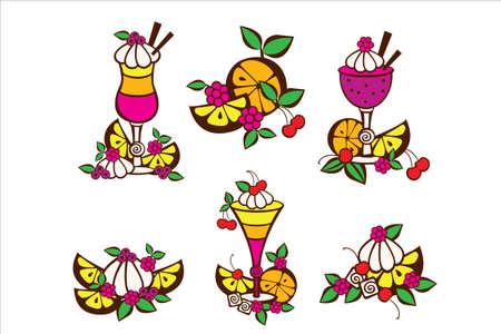 cocktails Иллюстрация