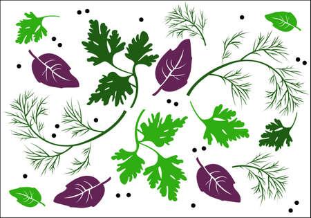 fresh herbs: greens