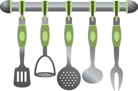 Metal kitchen set Stock Vector - 10528376