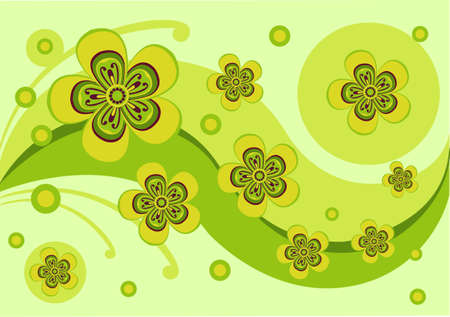 bright green flowers Stock Vector - 10528377