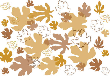 Autumn leaves background Stock Vector - 10563901