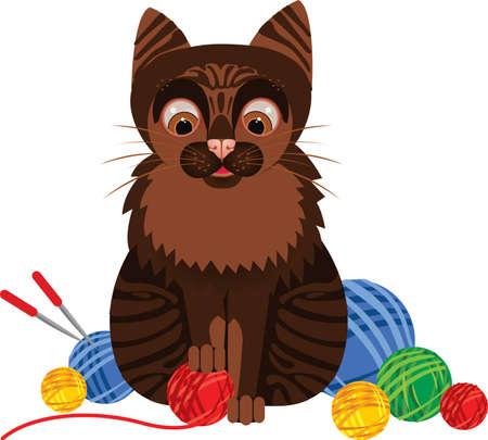 brown cat Vector