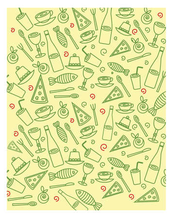 Pastel food background
