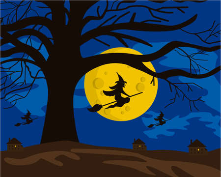 broomstick: Witches on brooms