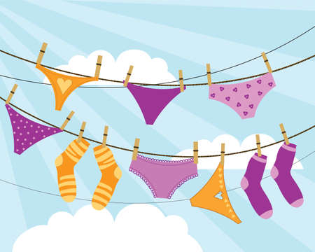 drying: Underwear and socks are dried