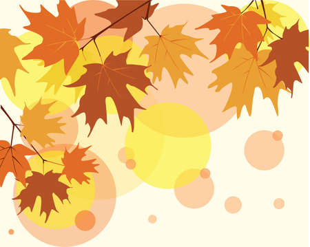 autumn background with maple leaves Иллюстрация