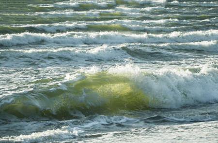 Big transparent sea wave movement on a seashore Reklamní fotografie