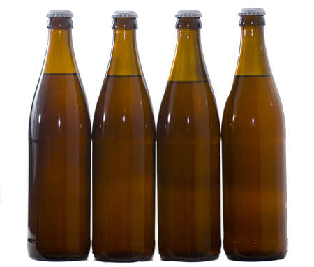 reuseable: Four  Home Brew beer bottles