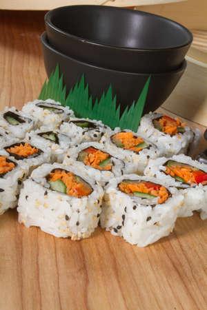 Sushi California Rolls photo