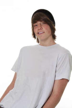 ni�o en patines: Cool posar masculino de adolescente