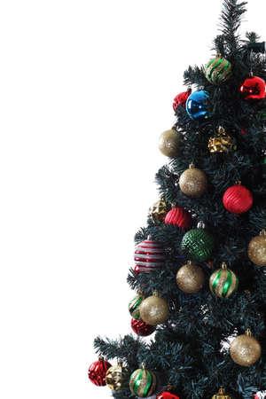 artificial lights: Christmas Tree Stock Photo