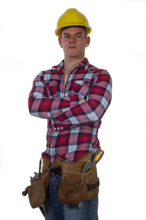 young man construction worker Stock Photo - 13625065