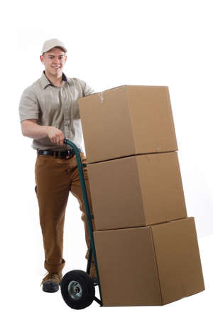 Divlery guy courier shipping containers photo