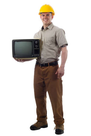 DIY Handy Man with TV television photo