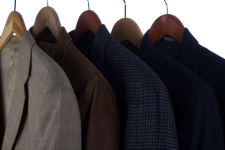 Blazers and Jackets on hangers Stock Photo - 13631856