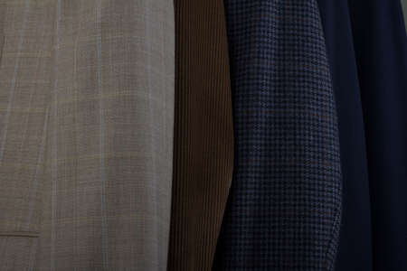 Details of fabrics of mens sports jackets photo