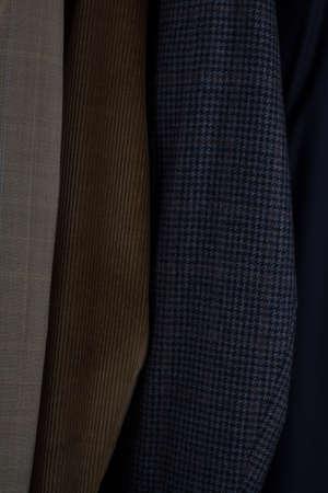 Details of fabrics of mens sports jackets photo