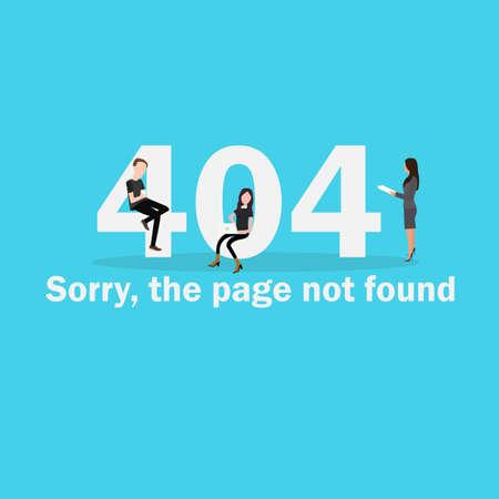 404 pagina niet gevonden illustratie van de pagina voor het verbreken van de verbinding mislukt netwerk server down