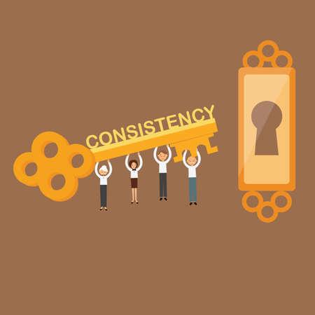 La consistencia es el concepto clave del trabajo en equipo para lograr el vector de éxito de objetivos