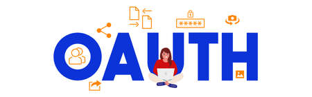 OAUTH Open authentication Vector login password, security web form templates.