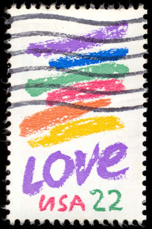 usps: UNITED STATES OF AMERICA - CIRCA 1980: A stamp printed in USA shows image dedicated to the Love circa 1980. Editorial